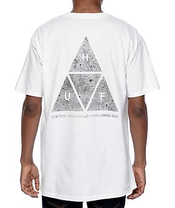 HUF Concrete Triple Triangle White T-Shirt