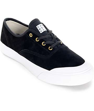 HUF Cromer Black and White Skate Shoes