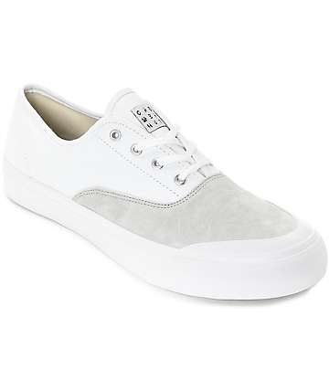 HUF Cromer White & Light Grey Skate Shoes