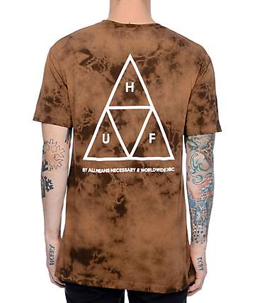 HUF Crystal Wash Triple Triangle Gold T-Shirt