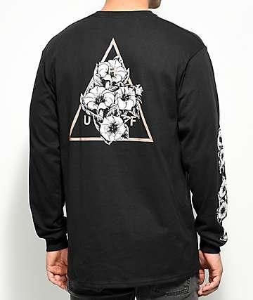 HUF Datura Triangle Black Long Sleeve T-Shirt