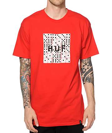 HUF Dice Box Logo Fill T-Shirt