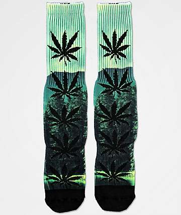 HUF Digital Plantlife Evergreen Crew Socks