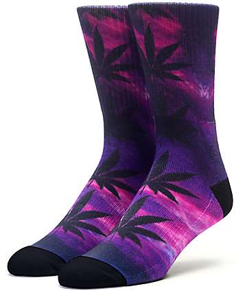 HUF Digital Plantlife Purple Reign Crew Socks