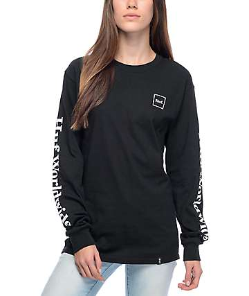 HUF Domestic Black Long Sleeve T-Shirt