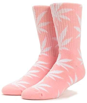 HUF Easter Plantlife Pink Weed Print Crew Socks