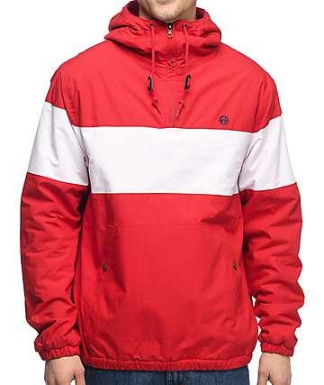 HUF Explorer 1 chaqueta anorak en rojo