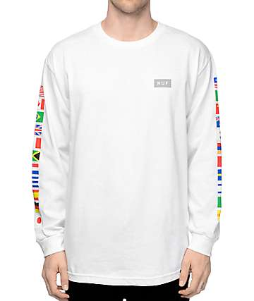 HUF Flags White Long Sleeve T-Shirt