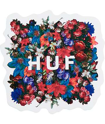 HUF Floral Box Logo Sticker