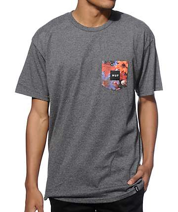 HUF Floral Pocket T-Shirt