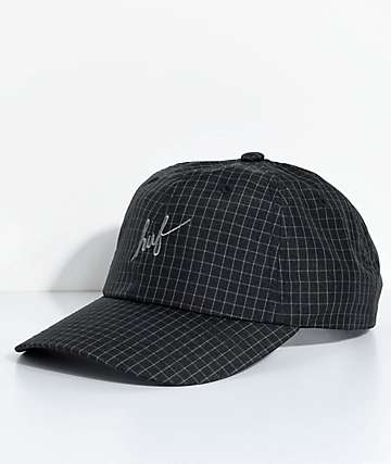HUF Flynn Black Print Six Panel Hat