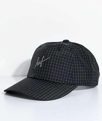 HUF Flynn gorra negra de seis paneles