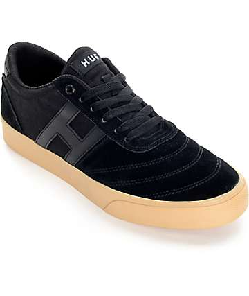 HUF Galaxy Black and Gum Skate Shoes