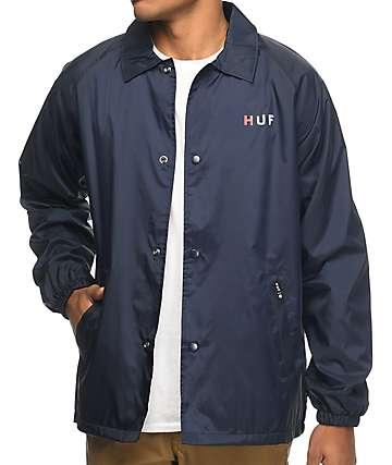 HUF Gradient OG chaqueta entrenador en azul marino