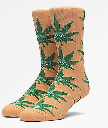 HUF Green Buddy calcetines en color naranja
