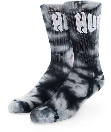 HUF Griffin Tie Dye Black Crew Socks