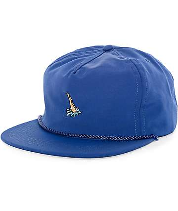 HUF Head First Blue Snapback Hat