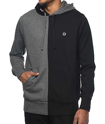 HUF Henry sudadera con capucha en gris y negro