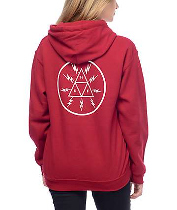 HUF High Voltage Cardinal Pullover Hoodie