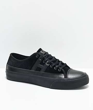 HUF Hupper 2 Lo Black Velvet Skate Shoes