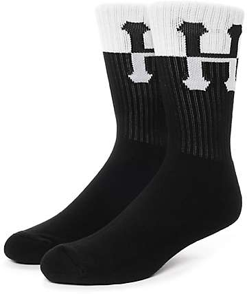 HUF Inverse H Black & White Crew Socks