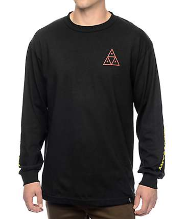 HUF Irie Triple Triangle Black Long Sleeve T-Shirt