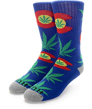 HUF Legalize Colorado Blue Crew Socks