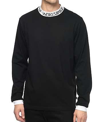 HUF Letras camiseta negra de manga larga