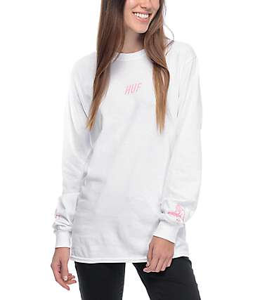 HUF Loving Touch White Long Sleeve T-Shirt