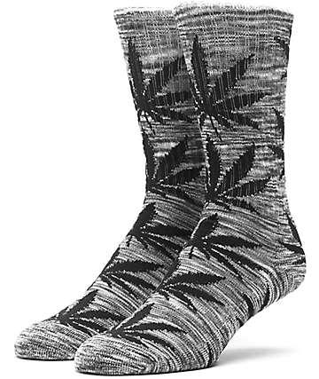 HUF Melange Plantlife calcetines en gris y negro