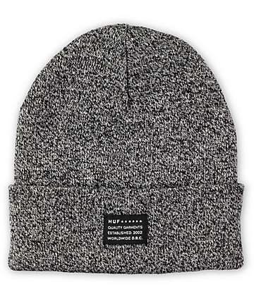HUF Mixed Yarn Black Beanie