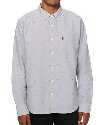 HUF Monogram Grey Long Sleeve Button Up Shirt