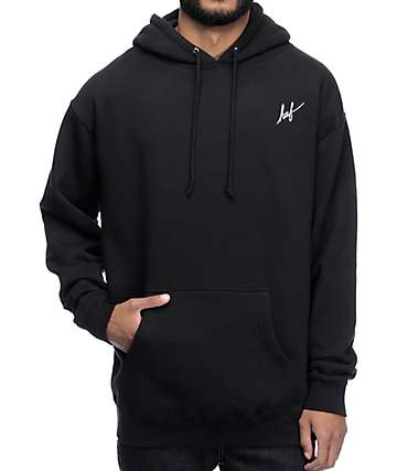 HUF Muted Military Box Logo Black Hoodie