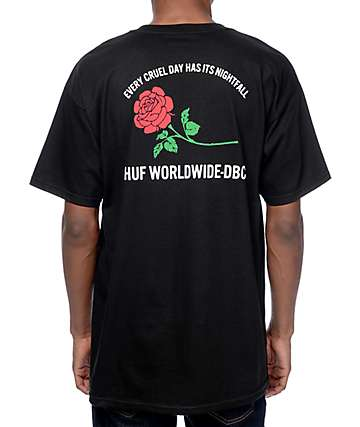 HUF Nightfall Black T-Shirt