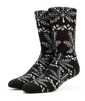 HUF Nordic Black Crew Socks