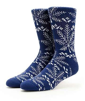 HUF Nordic Navy Crew Socks