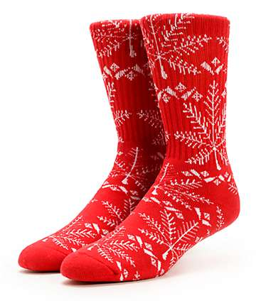 HUF Nordic Red Crew Socks