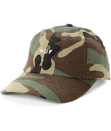 HUF Original Logo Camo Strapback Hat