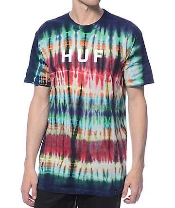 HUF Original Logo Rainbow Tie Dye T-Shirt