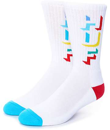HUF Outline White Crew Socks