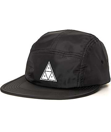 HUF Packable Black Nylon 5 Panel Hat