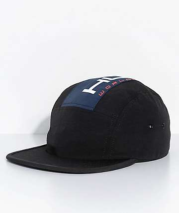 HUF Palisades Black 5 Panel Hat