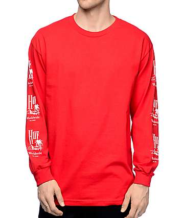 HUF Paradise Red Long Sleeve T-Shirt