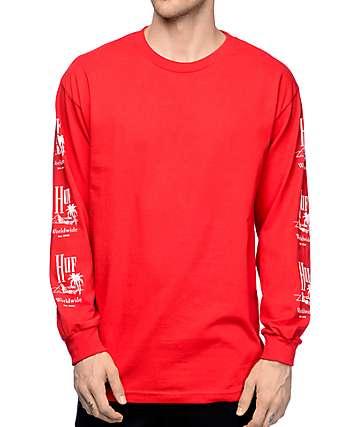 HUF Paradise Red Long Sleeve T-Shirt