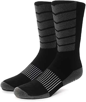 HUF Performance Plus Black Crew Socks