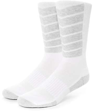 HUF Performance Plus White & Grey Crew Socks