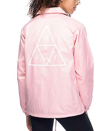 HUF Pink Ladies Coaches Jacket
