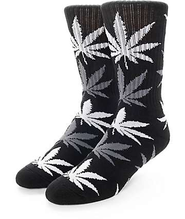 HUF Plantlife Black, Grey, & Charcoal Crew Socks