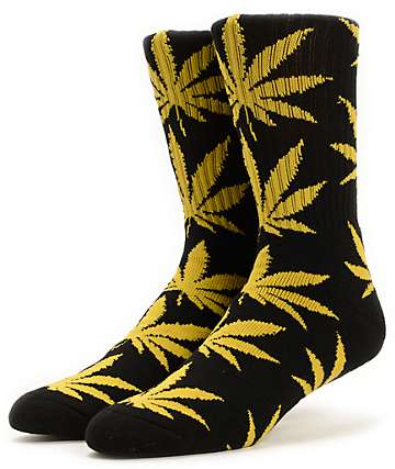 HUF Plantlife Black & Gold Crew Socks
