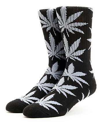 HUF Plantlife Black & Grey Crew Socks